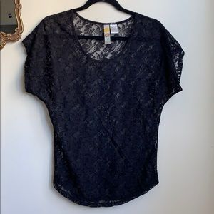 Mimi Chica Floral Print Sheer Top - Size S